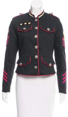 History Repeats by Femme Michele Rossi Patchwork Military Jacket w/ Tags