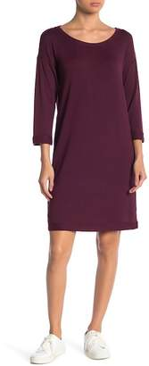 WORKSHOP FOR THE REPUBLIC Cuff Sleeve Scoop Neck Sweater Dress