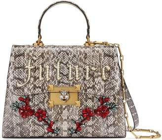 Gucci Snakeskin medium top handle bag