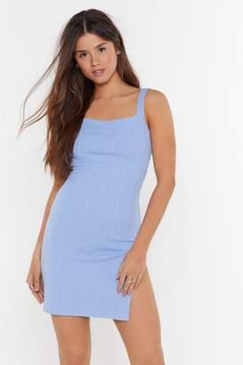Nasty Gal Womens Party Hard Slit Mini Dress - Blue - 8