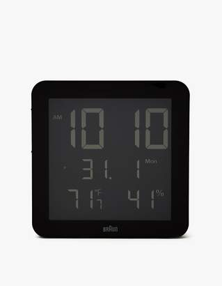 Braun BNC014 Digital Wall Clock in Black