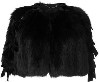 Fendi fox fur cape