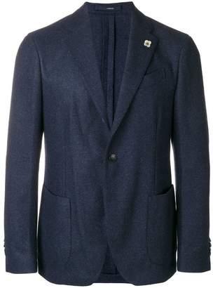Lardini woven wool blazer