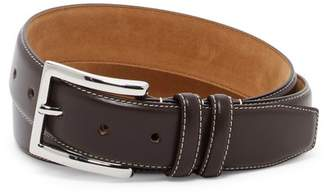 Cole Haan Feathered Edge Leather Belt