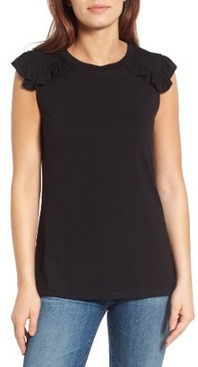 Women's Bobeau Ruffle Detail Top $42 thestylecure.com