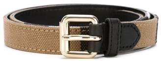 Burberry Canvas Check and Leather Belt
