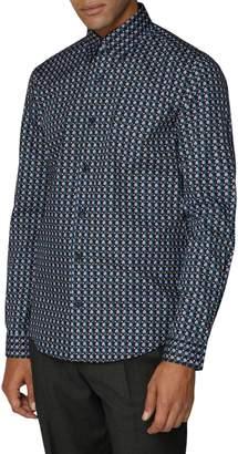 Ben Sherman British Youth Club Soho-Fit Retro-Print Button-Down Shirt
