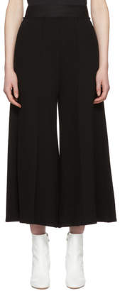 Maison Margiela Black Twill High-Waist Trousers