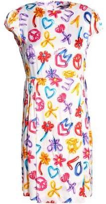 Love Moschino Printed Satin-Jersey Mini Dress