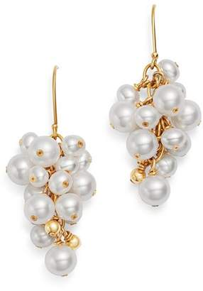 Bloomingdale's Cultured Freshwater Pearl Cluster Drop Earrings in 14K Yellow Gold - 100% Exclusive