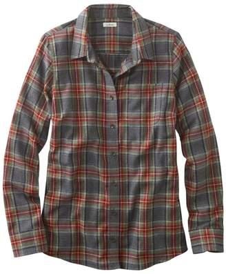 L.L. Bean L.L.Bean Women's Scotch Plaid Flannel Shirt, Slightly Fitted