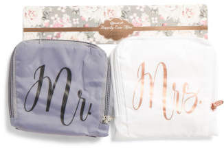 2pk Mr. & Mrs. Bridal Laundry Bags