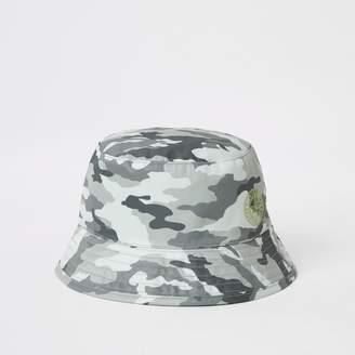 a033b7c6 River Island Mens Mini boys Grey camo bucket hat