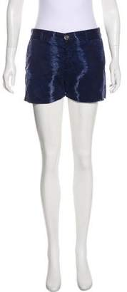 Current/Elliott Mid-Rise Tie-Dye Print Shorts