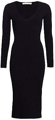 Jonathan Simkhai Women's Deep V Ribbed Bodycon Dress