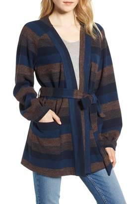 Hinge Stripe Wrap Front Jacket