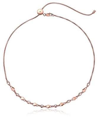 Michael Kors Logo Logo Love -Tone Choker Pendant Necklace