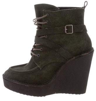Pierre Hardy Lace-Up Wedge Ankle Boots