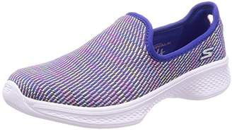 Skechers Girls' 81165L Slip On Trainers, (Black/Multicolour), 12.5 UK Child 31 EU