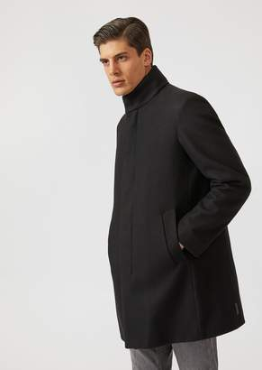 Emporio Armani 3-In-1 Coat In Water Repellent Fabric With Removable Vest