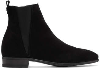 Dolce & Gabbana Black Suede Chelsea Boots