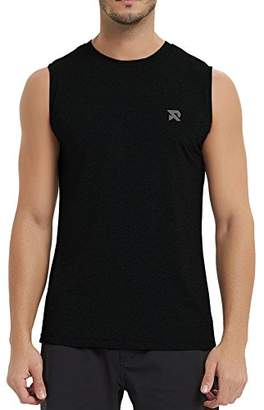 RADHYPE Men Polyester Classic Fit Sleeveless Athletic Tshirt Training Tank Top M
