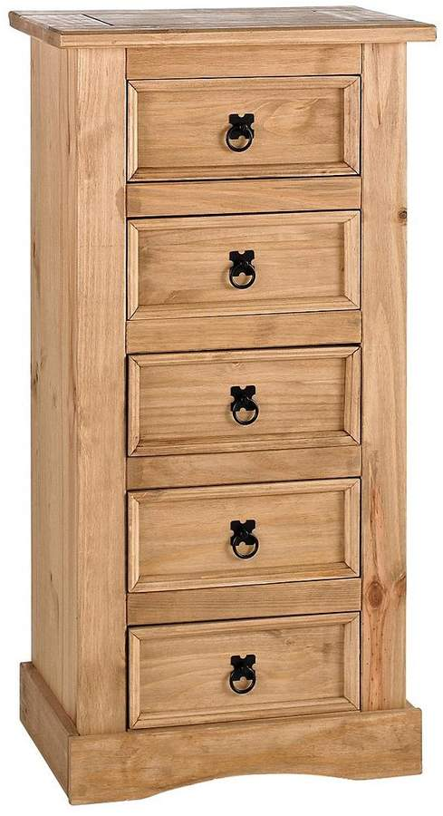 Corona 5-Drawer Tallboy