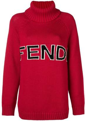 Fendi intarsia logo knitted sweater