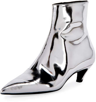 Balenciaga Mirrored Metallic Ankle Bootie