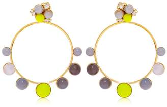 Anton Heunis Color Block Hoop Pendant Earrings