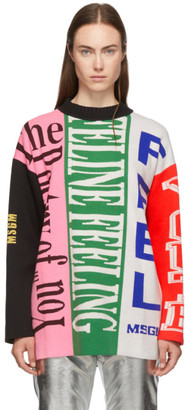 MSGM Multicolor Knit Logo Sweater
