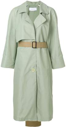 Walk Of Shame contrast tail trench coat