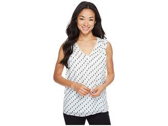 Ellen Tracy Double V Shell Women's Clothing