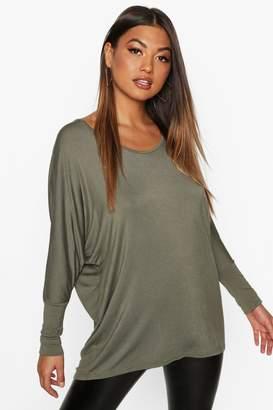 boohoo Long Sleeve Oversized T-Shirt