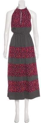 Robert Rodriguez Printed Halter Midi Dress w/ Tags