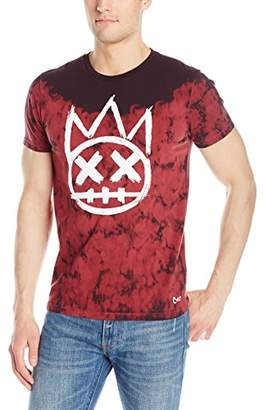 Cult of Individuality Men's Crew Shimuchan Logo in Red Tie Dye