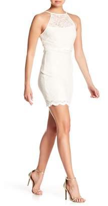 Jump Glitter Lace Bodycon Dress