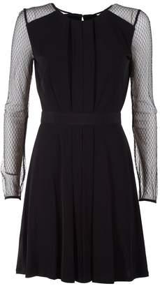 BCBGMAXAZRIA Tulle And Stretch-jersey Mini Dress