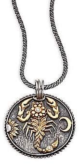 Konstantino Women's Zodiac Diamond, 18K Yellow Gold& Sterling Silver Scorpio Pendant
