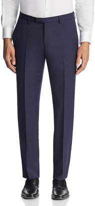 BOSS Leenon Regular Fit Textured Micro Check Dress Pants