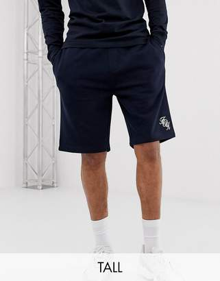French Connection Tall script logo jersey shorts