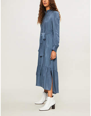 See by Chloe Self-tie pleated satin midi dress