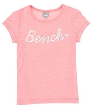 Bench Girl's Logo Tee T-Shirt, (Maritime Blue Bl11213), (Size: 11-12)