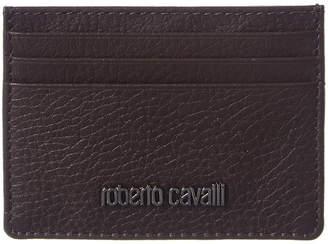 Roberto Cavalli Dollar Print Leather Card Case