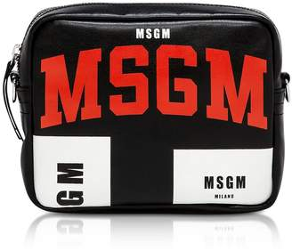 MSGM Signature Black Crossbody Bag