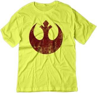 Star Wars BSW Men's Rebel Alliance Starbird Insignia Phoenix Shirt XS Yellow