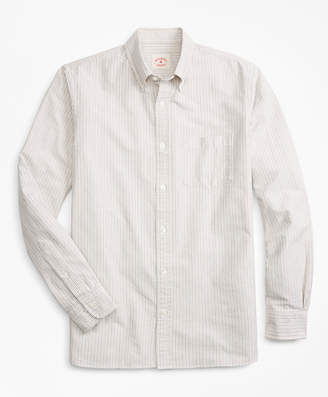 Brooks Brothers Alternating-Stripe Supima Cotton Oxford Sport Shirt