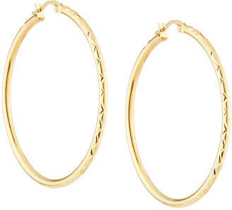 Sphera Milano 14k Diamond-Cut Hoop Earrings