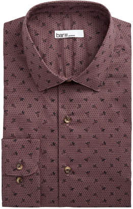 Bar III Men Slim-Fit Stretch Tossed Berry Dot Dress Shirt