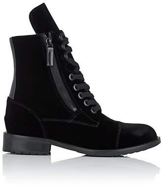 HIRAETH Women's Hanne Cap-Toe Velvet Ankle Boots